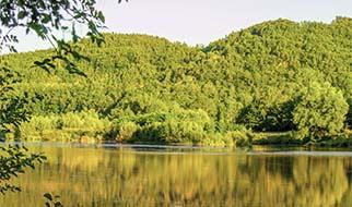 kamperen aan de rivier de Auvergne