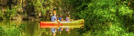 Canoeing for free in Auvergne