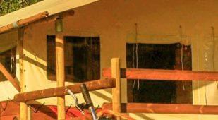 Campingplatz Vermietung Unterkunft Auvergne Hütte