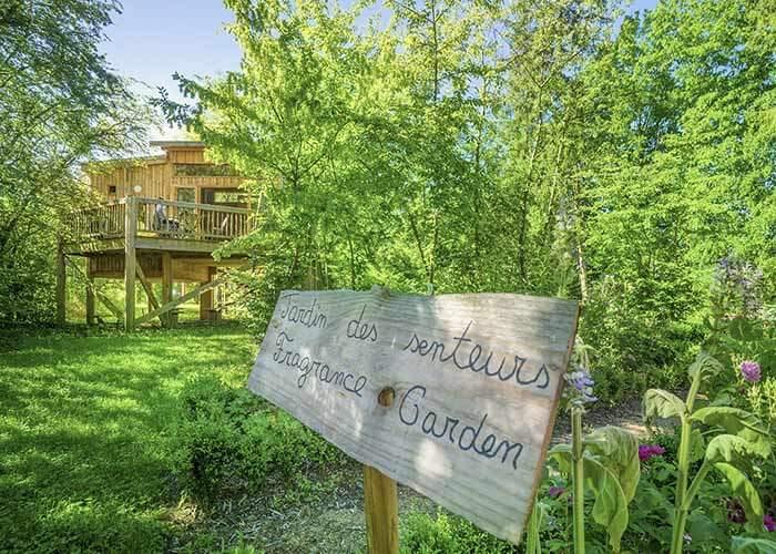 vue cabane arbre en Auvergne
